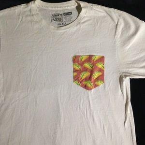 Vans White T-Shirt w/ Taco Pocket